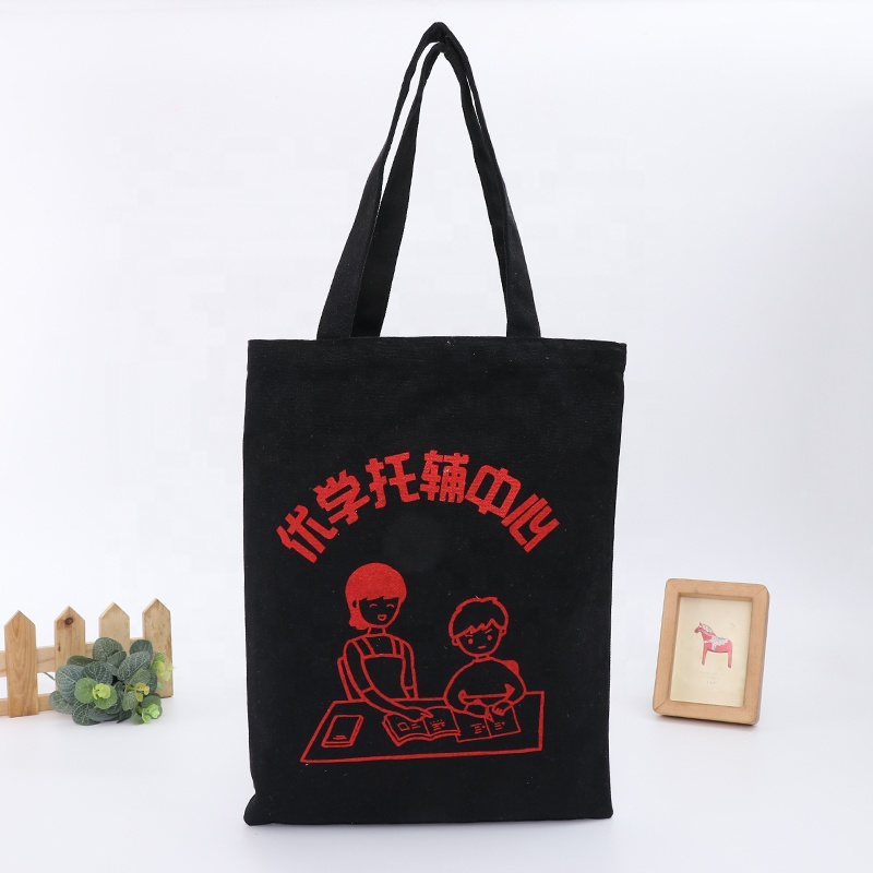 100% <strong>eco</strong> friendly waxed tote bags cotton canvas shopping bag with custom logo printed
