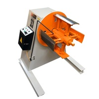 Simple manual expansion decoiler machine for metal coil unwinding for rewinding the coils