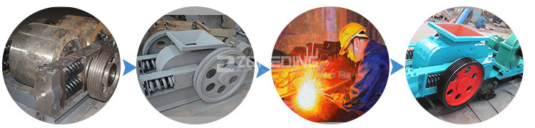 Low price coal double roller limestone iron ore roller crusher supplier