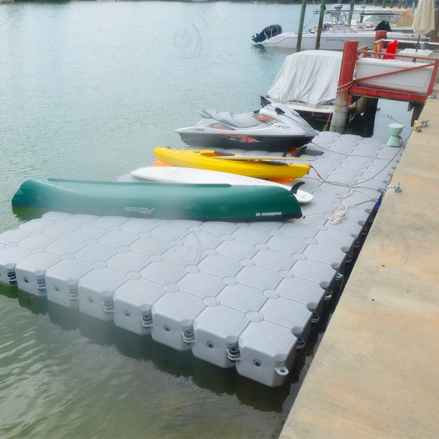 Florida use durable floating pontoon jet ski dock at habour