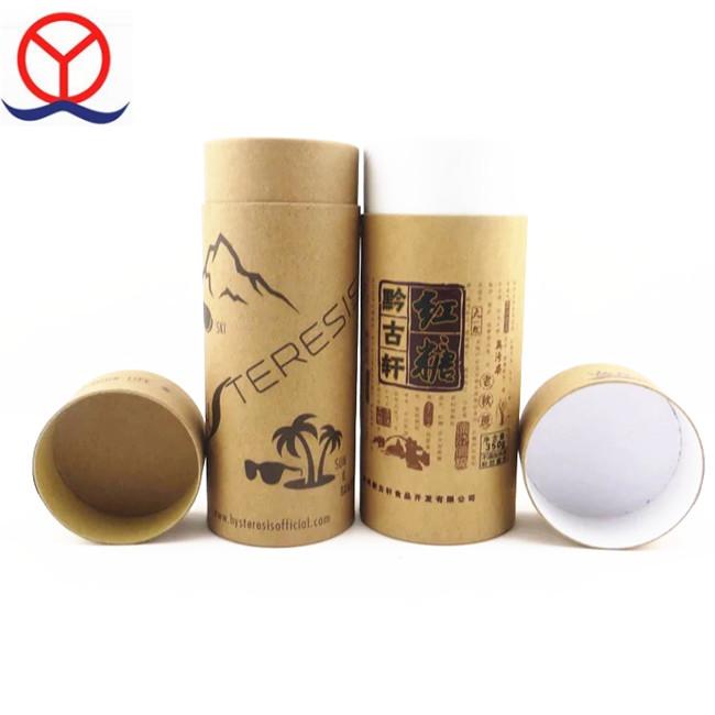 Kundenspezifisches Design bereiten Luxushut-moderne Verpackungs-Papp-Rundrohr-Kraftpapier-Tee-Box auf