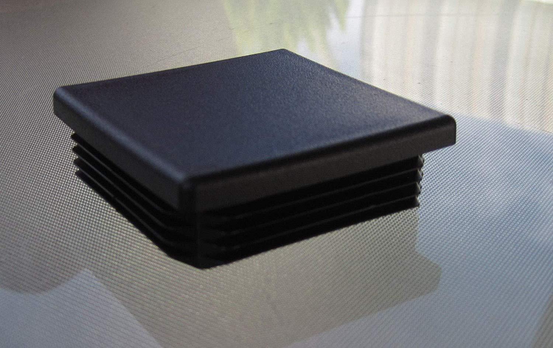 2 1/4 inch Square Tubing Plastic Plug, End Cap 10-14 Gauge 2.25''