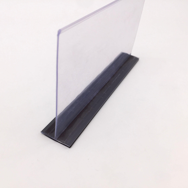Pemisah Rak Plastik Hiplastik dengan Magnet untuk Eceran Supermarket