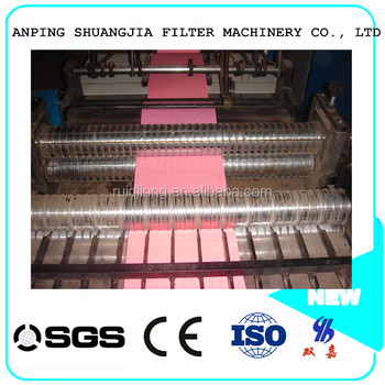Filter Paper Pleating Machine For Air Filter Corrugated