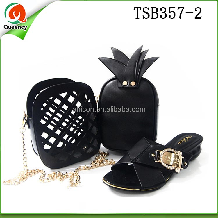 Fashion African Set TSB357 Queency Bag Shoe Matching Pineapple New Cute and Design Italian xaq6tR