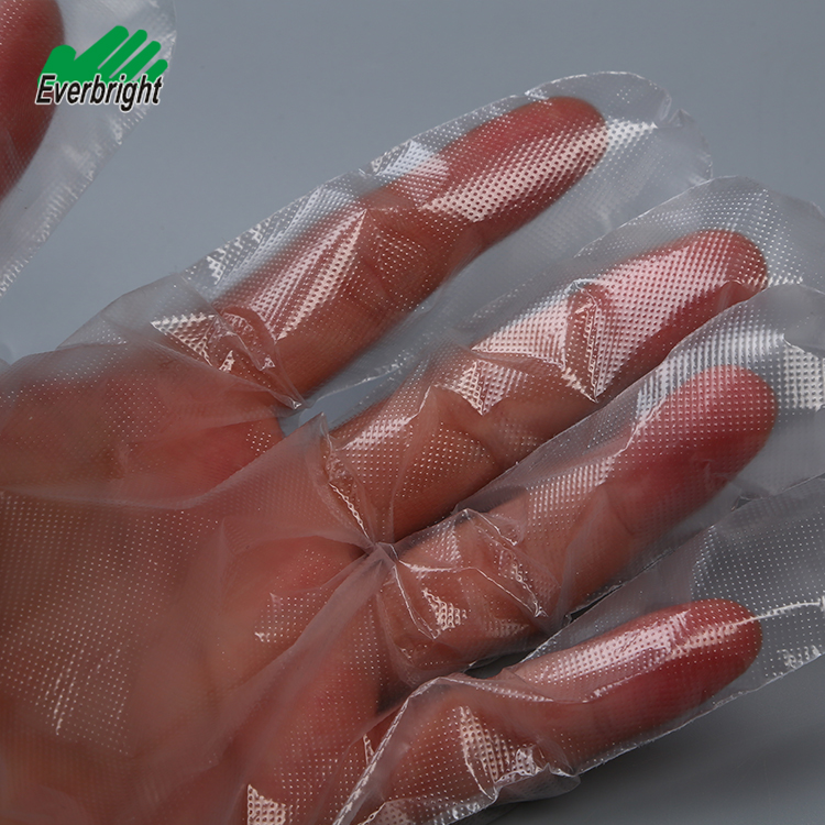 OEM disposable plastic poly gloves PE household gloves