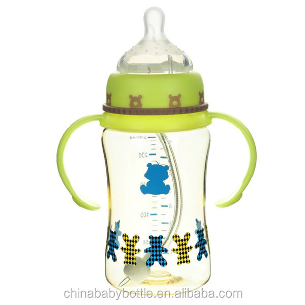 2015 BPA free baby bottle warmer baby nursing bottle food grade plastic pp bottle