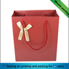 popular simple design red gift paper bag packaging with handle