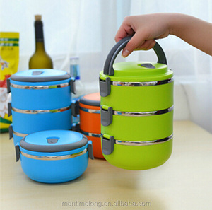 electric stainless steel lunch box insulated lunch box thermos lunch box