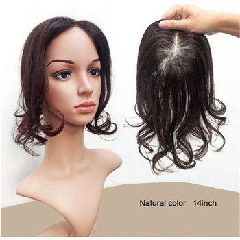 Hot Selling Hair Pieces for Top of Head Toupee For Women human hair toppers  Natural looking de919c1b58