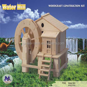 Water Mill 3D Puzzle Wood Craft Construction Kit