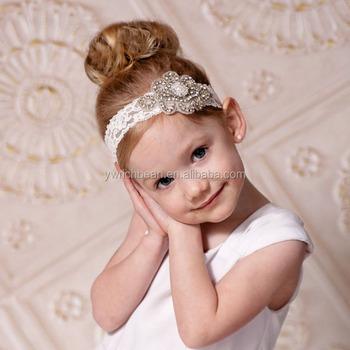 Newborn Baby Kids Pearl Diamond Headband Photo Props crystal Hair Band  wh-1705 798a1b4c9d4