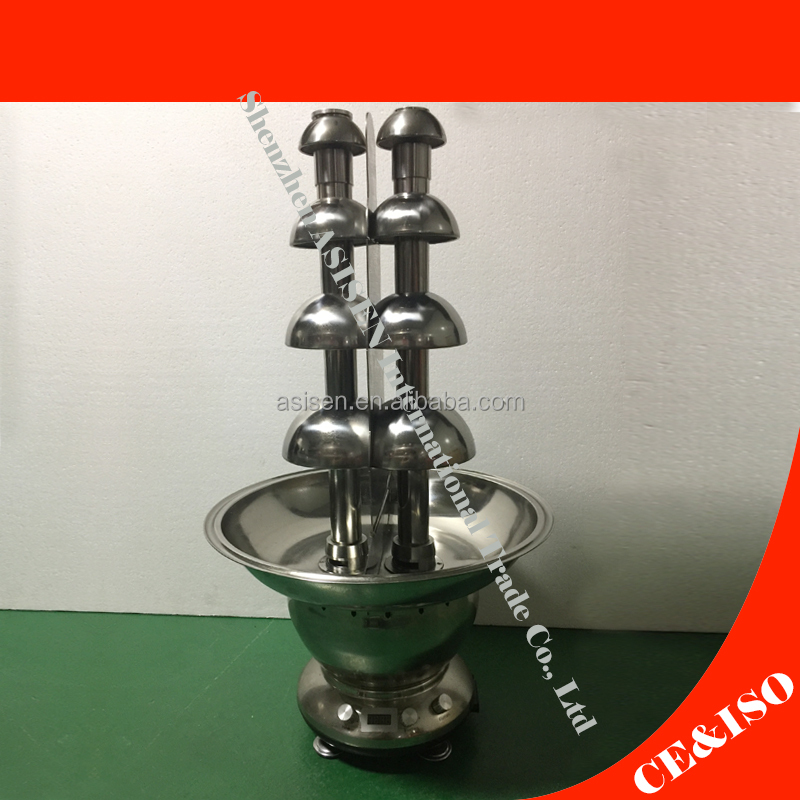 Hot Sale 110v 220v Electric 4 tiers Stainless-Steel Double-Tower Chocolate Fountain Wedding Birthday Waterfall