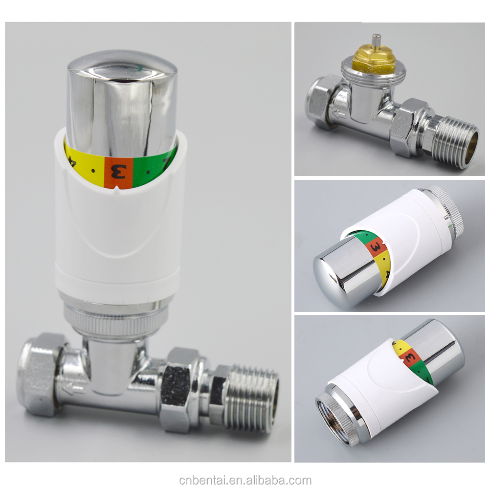 thermostatic actuators CHROME PLATED