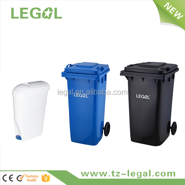 240L HDPE HOT!Outdoor Plastic Dustbin with Wheels 20L to 1200L with EN840