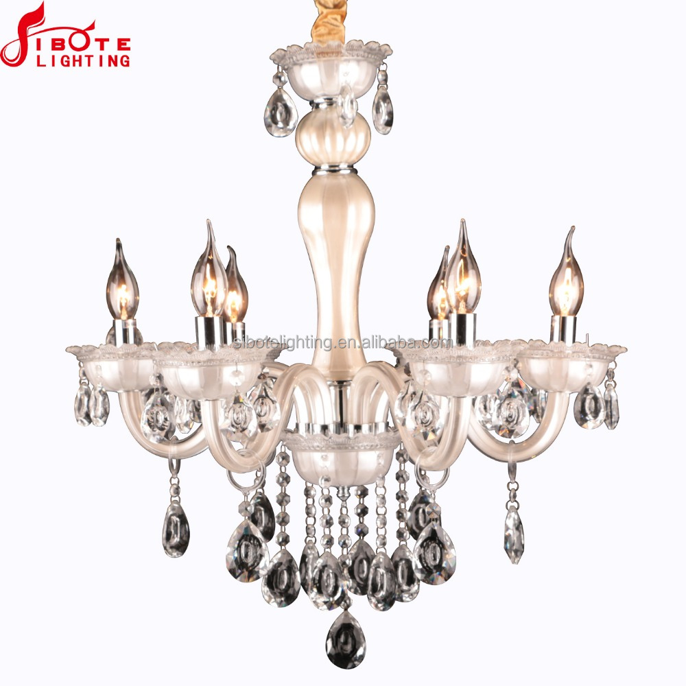 2017 Hot sell modern crystal glass candle chandelier lamp for home ,Factory cheap price