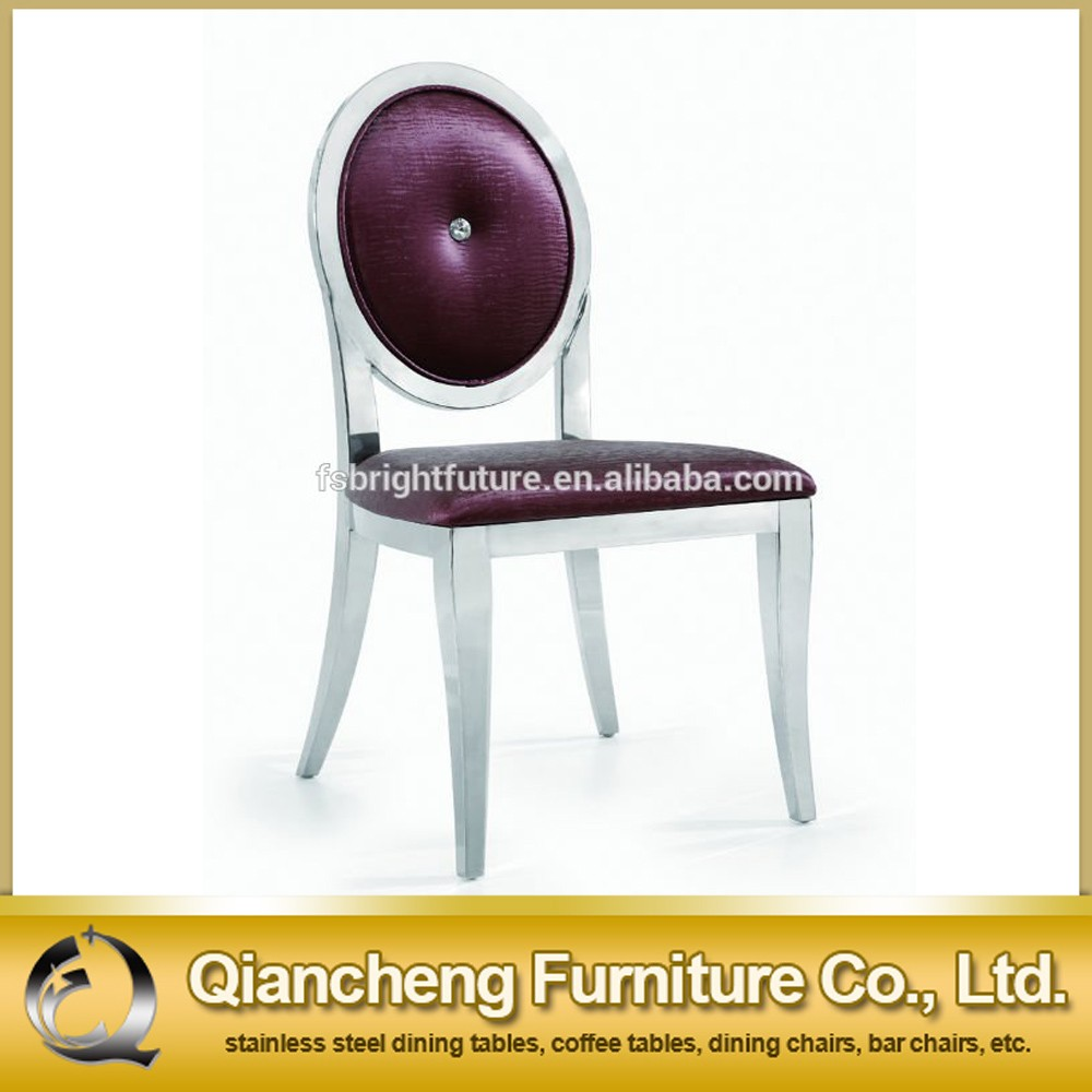 Purple PU Stainless Steel Outdoor Chair
