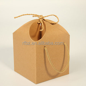 General peanuts, nuts, snack food kraft paper box Petals straps folded portable packing