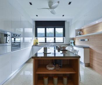 Trash Can Oak Kitchen Pantry Cabinet