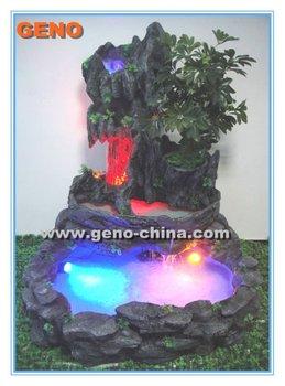 Rocalla Fuente De Agua Con Luz Led Para Interiores - Buy Agua ...