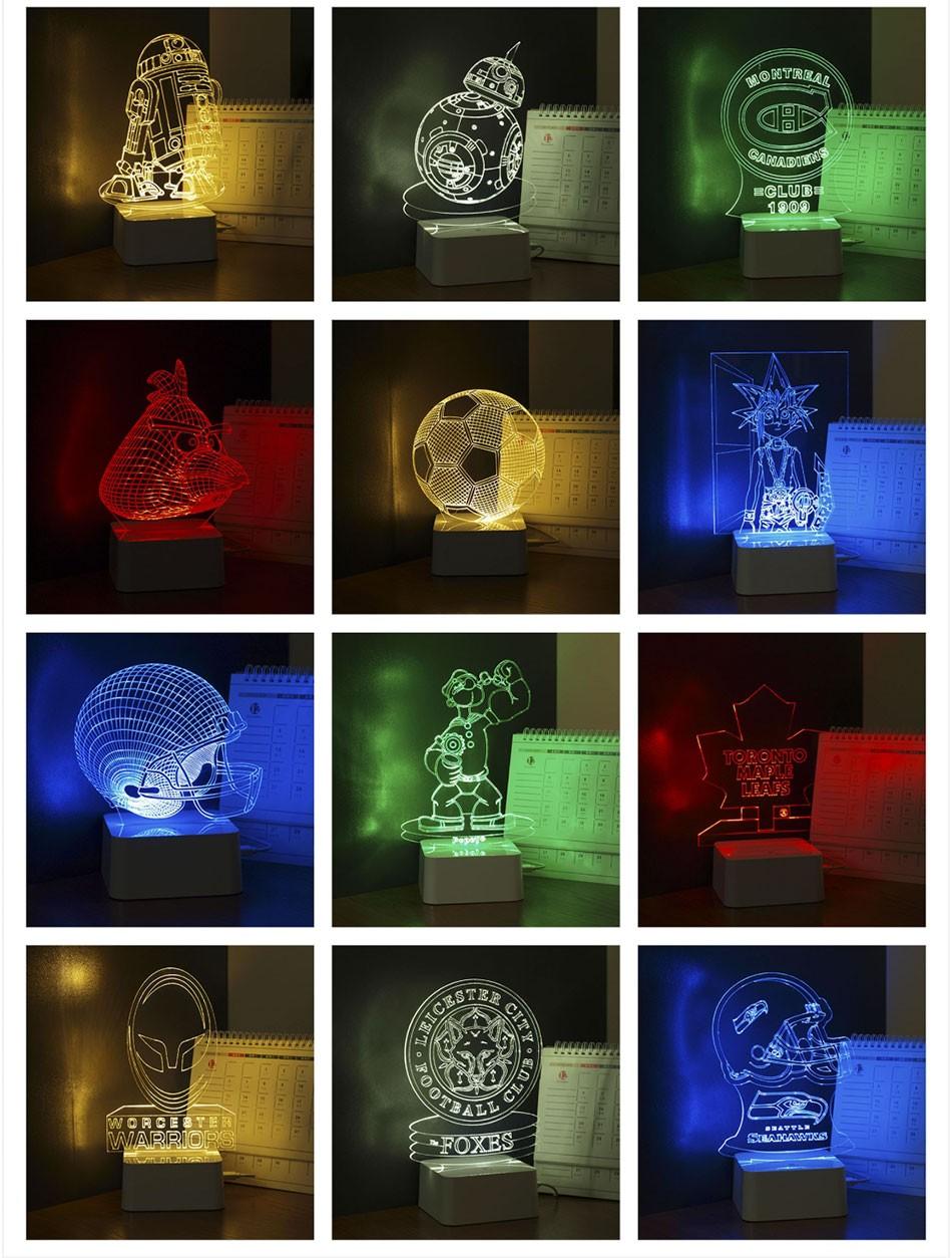 Luz de Noche Led for Star War Fans Imperial Stormtrooper 3D Lamp as Home Decor Bedroom USB Nightlight  (7)