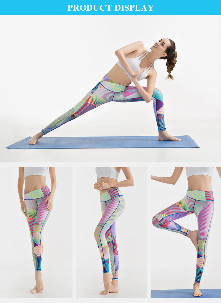 2019 Custom Made Rpet Hot Design Athletic Floral Print Slim Yoga Leggings
