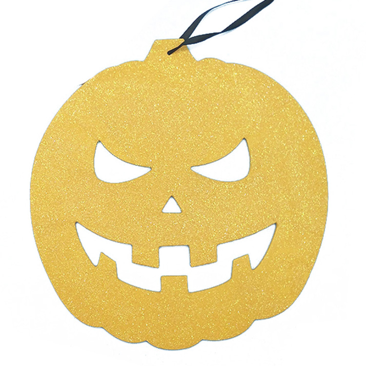 Top Design Pretty Glitter Halloween Pumpkin