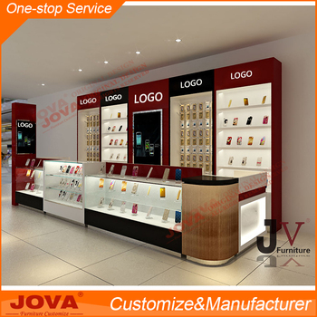 Modern & good materials mobile shop showcase for store interior ...