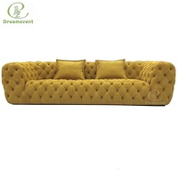 Comfortable Italian grey hotel original modern cheap chesterfield sofa for sale