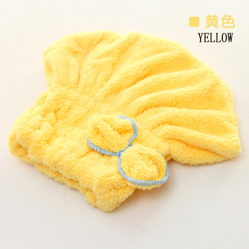High Quality Women's butterfly designer microfiber hair dryer hot sales easy dry hair cap fashion lady's dry cap for hair