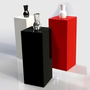 Custom acrylic pedestal stand/White Acrylic Pedestal Plinth Display/acrylic plinth