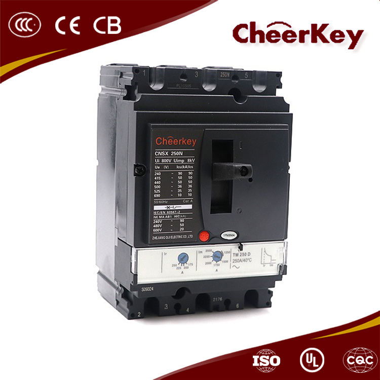 china wenzhou manufacturer CNSX 250N 100a 3p thermal magnetic mccb circuit breaker 16a