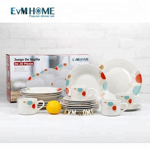 wholesale popular design crockery porcelain dinner sets
