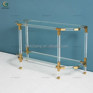 Modern furniture collection of acrylic side console table
