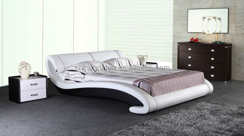 2015 Miff Home Furniture Double Size Leather Bed With