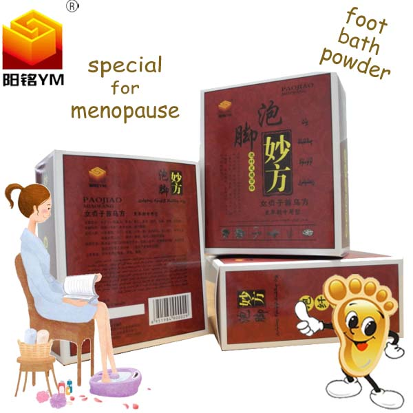 Chinese Best selling foot bath powder professional for menopause for elderly health care