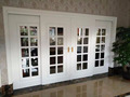 Customized entry door wood glass sliding door