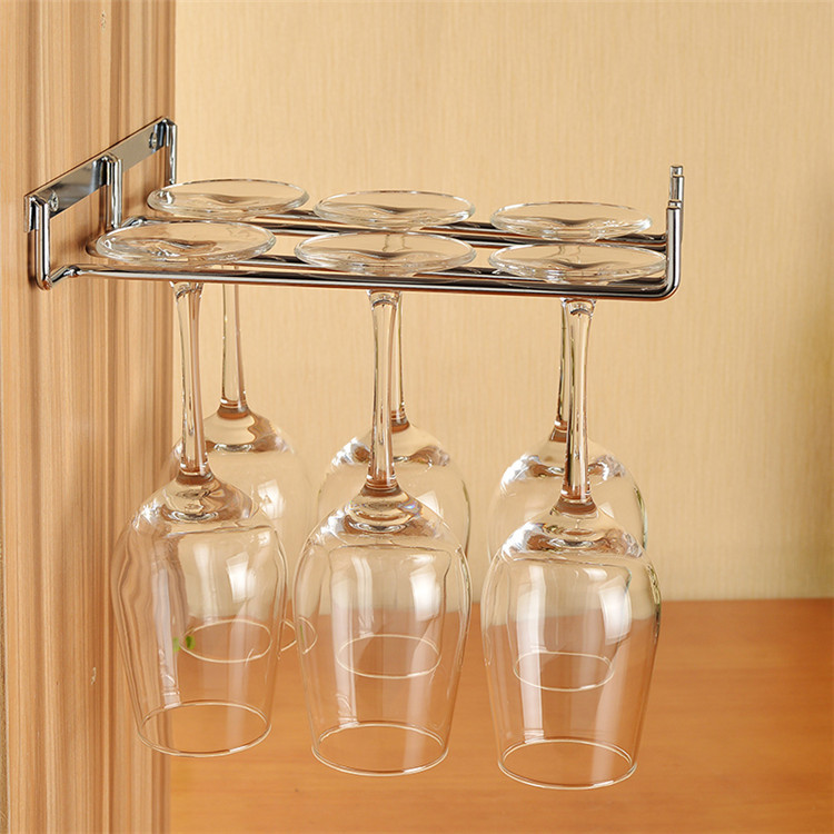 hanging wine glass rack stainless steel wine glass holder wine racks wall bottle holder wine cup. Black Bedroom Furniture Sets. Home Design Ideas