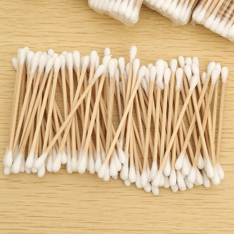 "Swab Applicator Q-tip 500 Pieces 6"" EXTRA LONG Wood Handle Cotton Swabs"