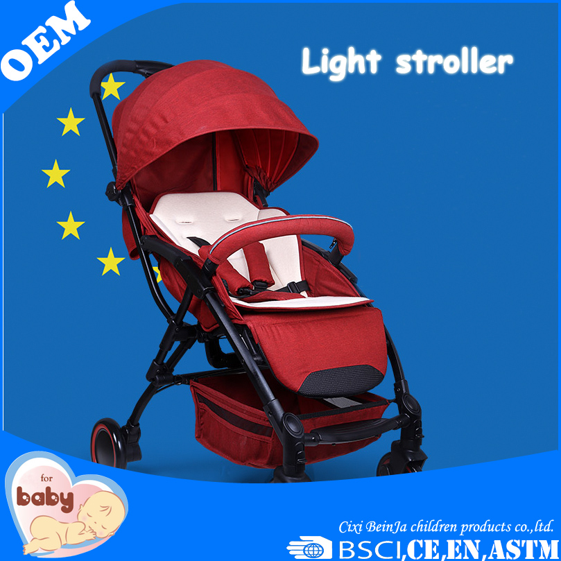 light weight baby stroller aluminium steel mini children baby push chair passed en1888