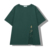 Longline oversized off shoulder loose fit custom women printing green  t shirt