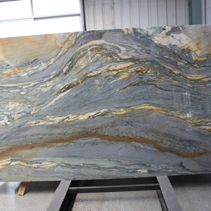 Marble look Marine blue quartzite slab from brazil