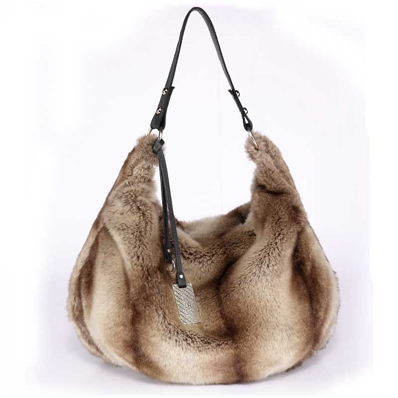 autumn and winter big artificial fur bags handbags for lady