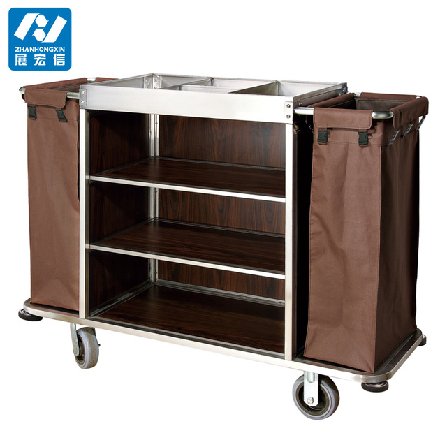 Good Quality Housekeeping Laundry Carts Maid Trolley For Hotel