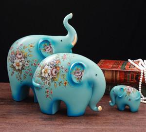 Ceramic elephant crafts home decoration/Porcelain elephant statue