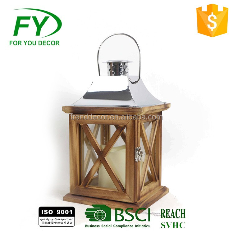 funeral garden wooden lantern candle holder centerpieces
