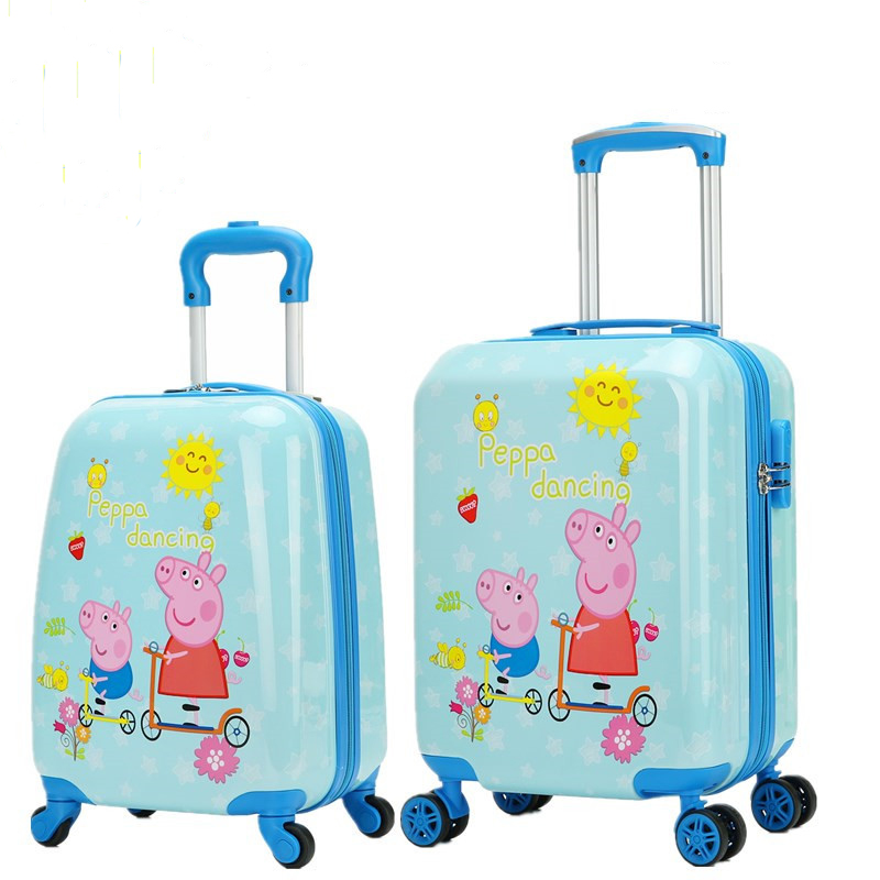 Cartoon cute peppa hardside kids luggage