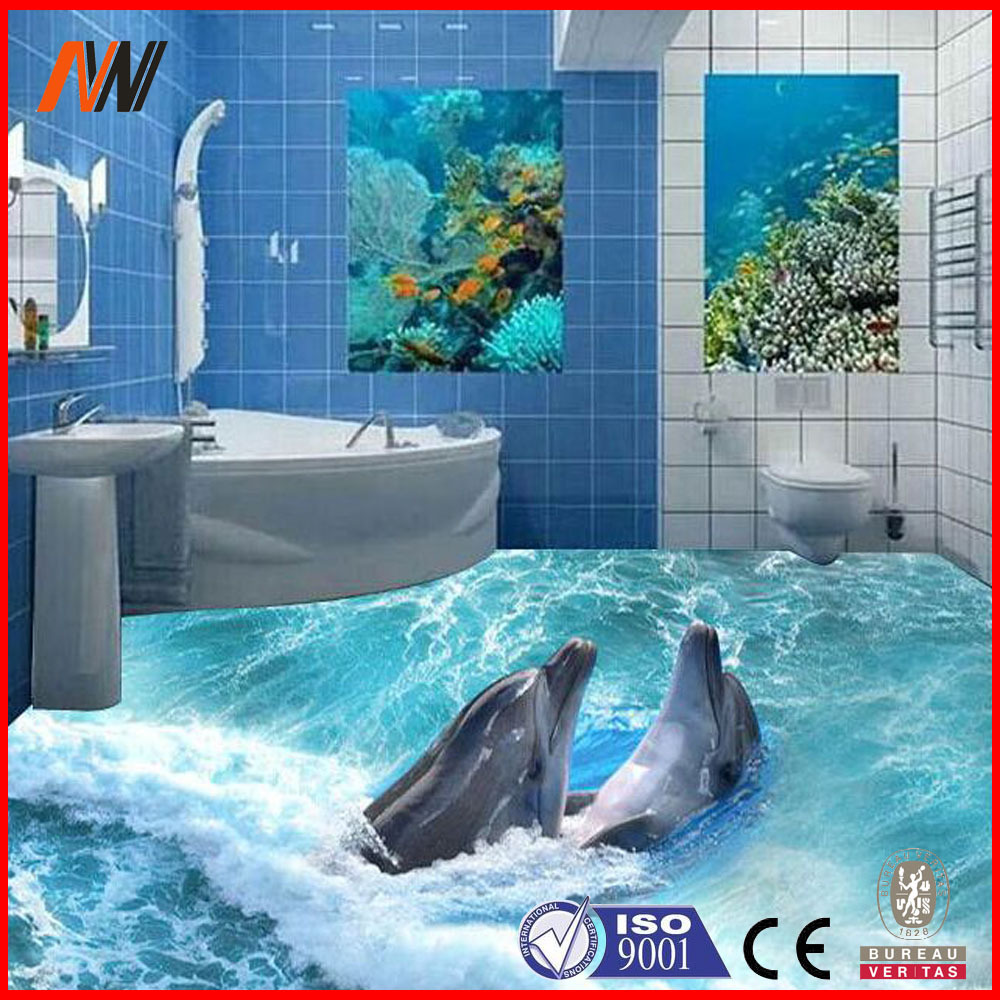 2015 mejor vende 3d piso de cer mica azulejo de la pared for Salle de bain 3d 2015