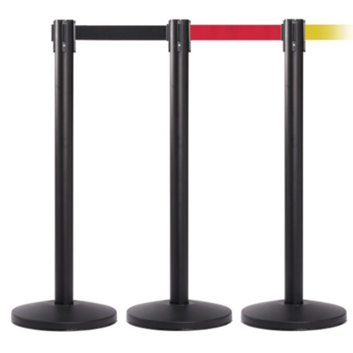 Bank Supermarket Que Manager Retractable Barrier Standing Poles