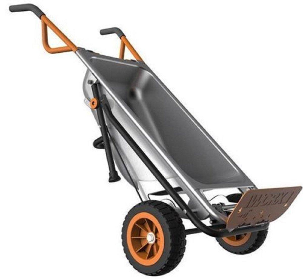 WG050 WORX AeroCart: 8-in-1 Multi-Function WheelBarrow Yard Cart, New, Free Shipping